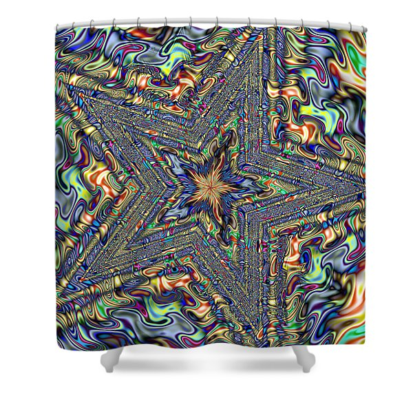 Fractal Star Shower Curtain by Gina Lee Manley