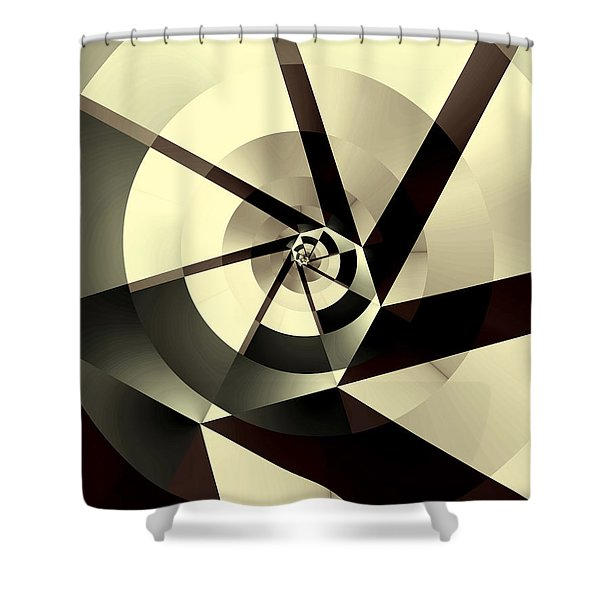 Fracture Shower Curtain by Kevin Trow