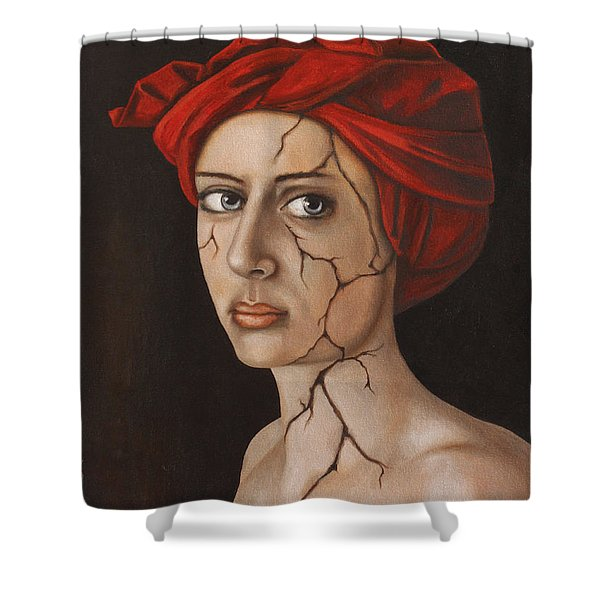 Fractured Identity Edit 1 Shower Curtain by Leah Saulnier The Painting Maniac