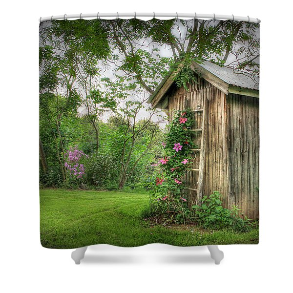 Fragrant Outhouse Shower Curtain by Lori Deiter