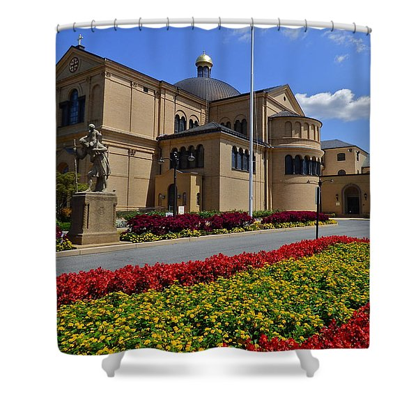 Franciscan Monastery In Washington Dc Shower Curtain by Jean Doepkens Wright