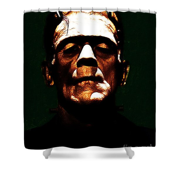 Frankenstein - Dark Shower Curtain by Wingsdomain Art and Photography