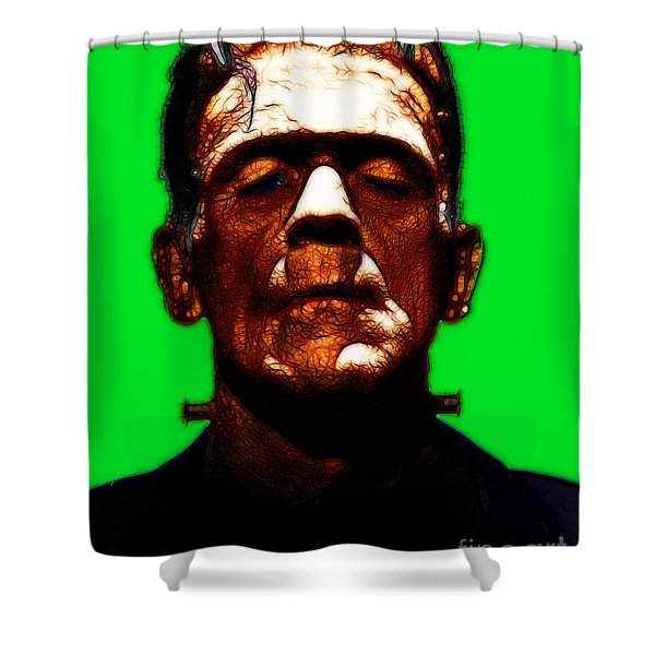 Frankenstein - Green Shower Curtain by Wingsdomain Art and Photography