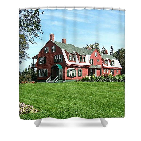 Franklin D. Roosevelts Beloved Island Campobello Shower Curtain by Edward Fielding
