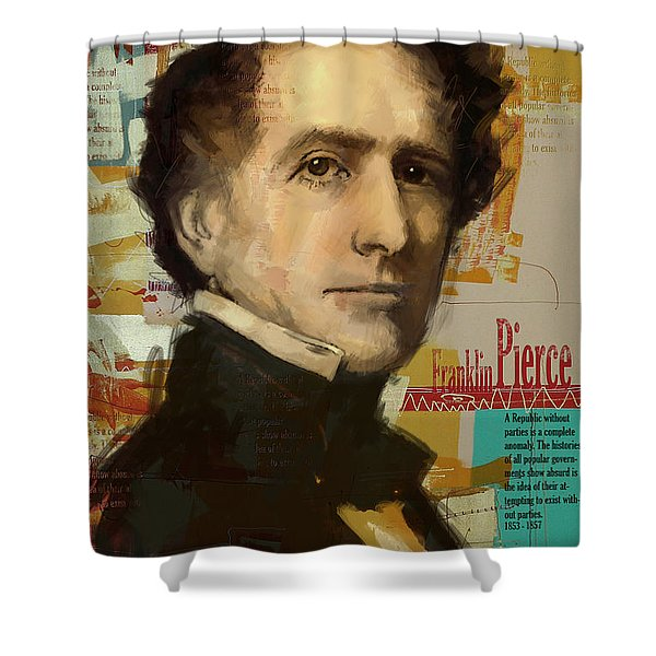 Franklin Pierce Shower Curtain by Corporate Art Task Force