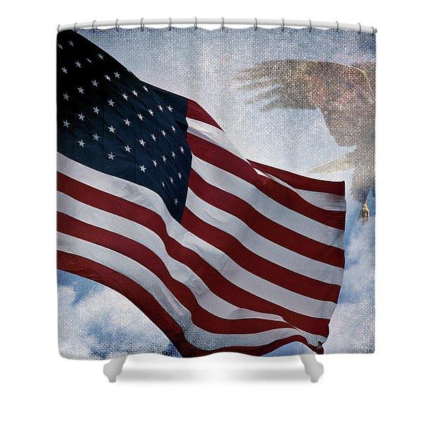 Freedom Shower Curtain by Scott Pellegrin