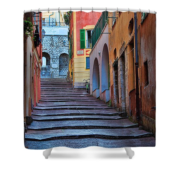 French Alley Shower Curtain by Inge Johnsson
