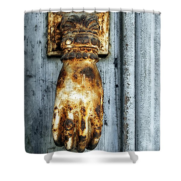 French Door Knocker Shower Curtain by Nomad Art And  Design