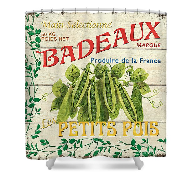 French Veggie Sign 1 Shower Curtain by Debbie DeWitt