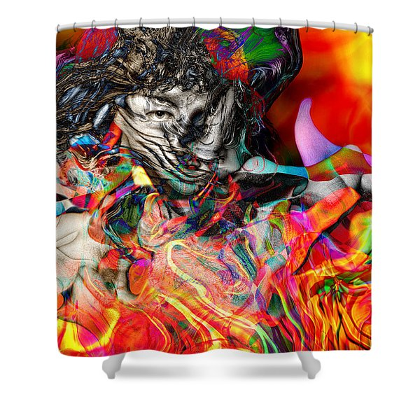 Friday Night Saturday Morning Shower Curtain by Daniel Hagerman