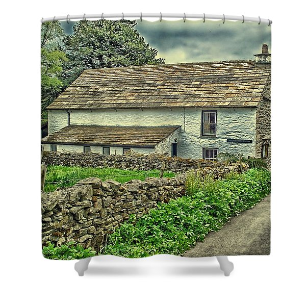 Friends Meeting House England Shower Curtain by Movie Poster Prints