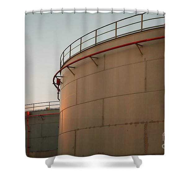 Fuel Tanks Shower Curtain by Gaspar Avila