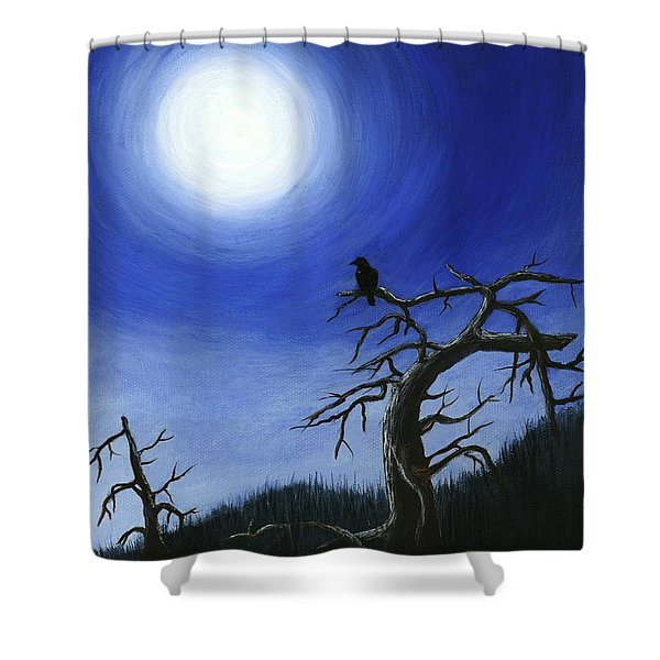 Full Moon Shower Curtain by Anastasiya Malakhova