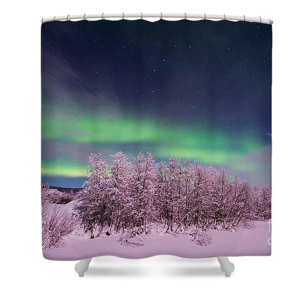 full moon lights Shower Curtain by Priska Wettstein