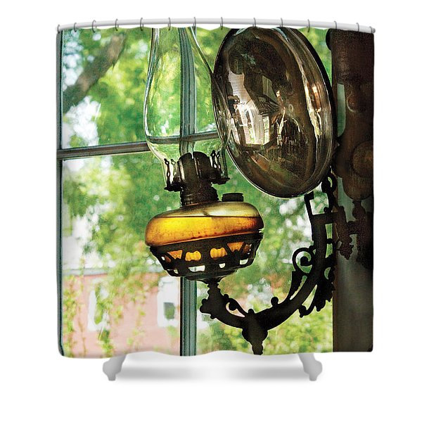 Furniture - Lamp - An oil lantern Shower Curtain by Mike Savad