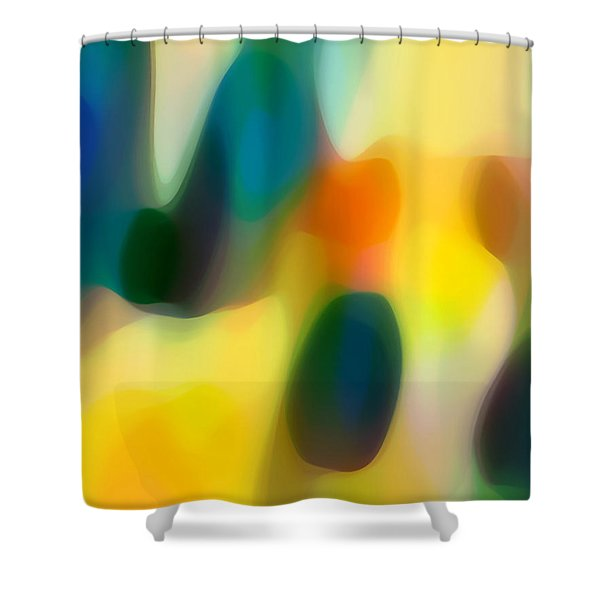 Fury Rain 2 Shower Curtain by Amy Vangsgard
