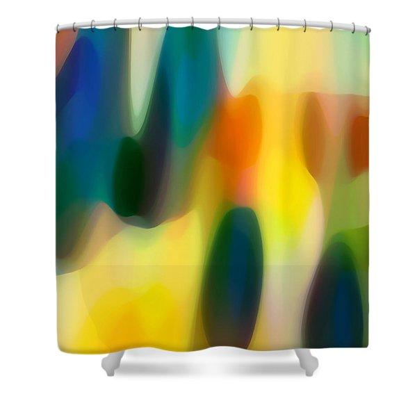 Fury Rain 3 Shower Curtain by Amy Vangsgard