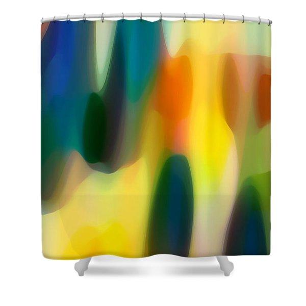 Fury Rain 4 Shower Curtain by Amy Vangsgard