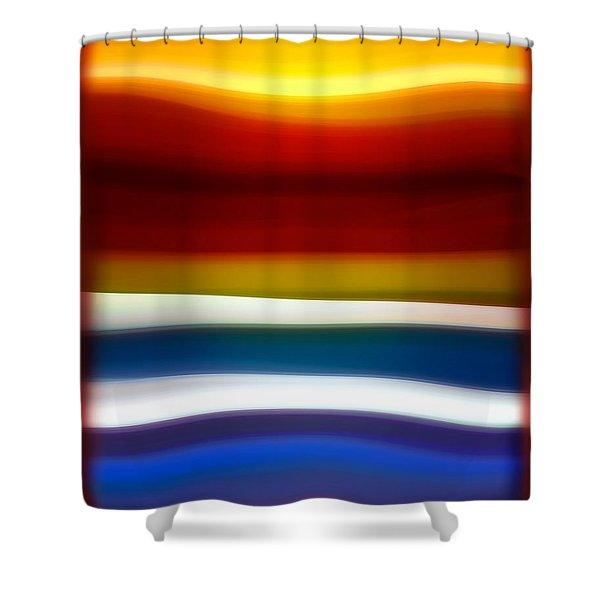 Fury Sea 5 Shower Curtain by Amy Vangsgard