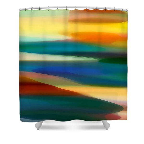 Fury Seascape 4 Shower Curtain by Amy Vangsgard