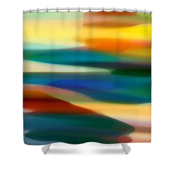 Fury Seascape 5 Shower Curtain by Amy Vangsgard