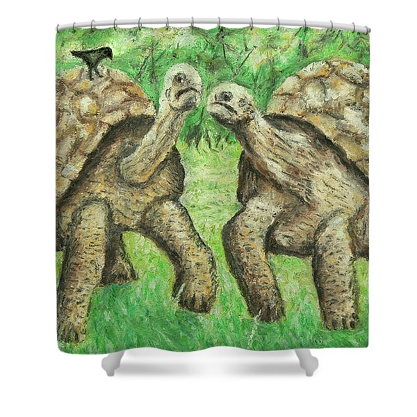 Galapagos Giant Tortoise Shower Curtain by Ronald Haber