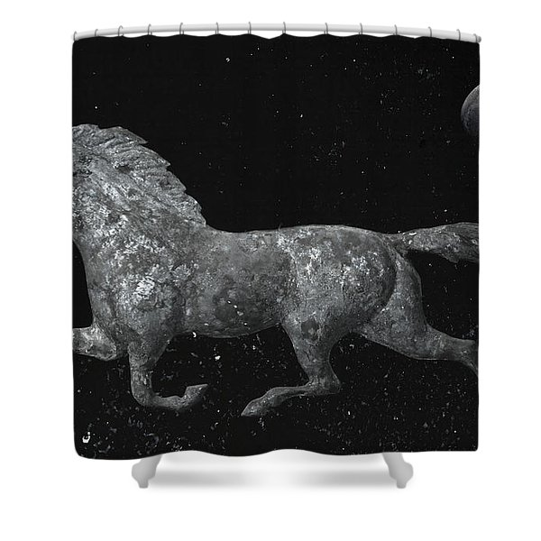 Galloping Through The Universe Shower Curtain by John Stephens