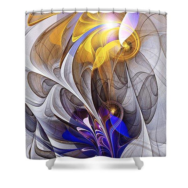 Galvanized Shower Curtain by Anastasiya Malakhova