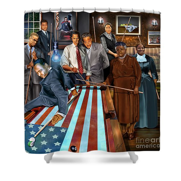 Game Changers and Table Runners P2 Shower Curtain by Reggie Duffie