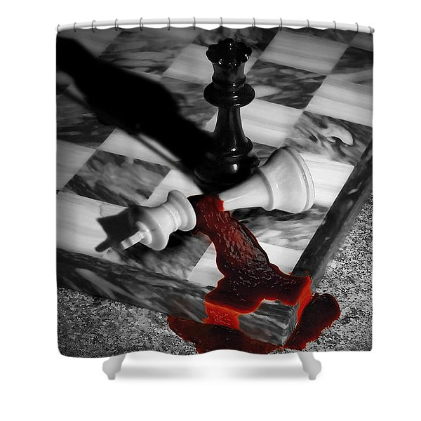 Game - Chess - Check Mate Shower Curtain by Mike Savad