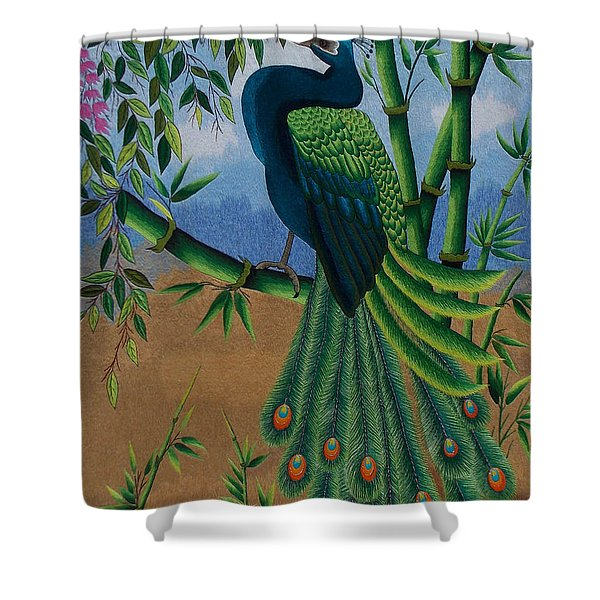 Garden Jewel 1 hand embroidery Shower Curtain by To-Tam Gerwe