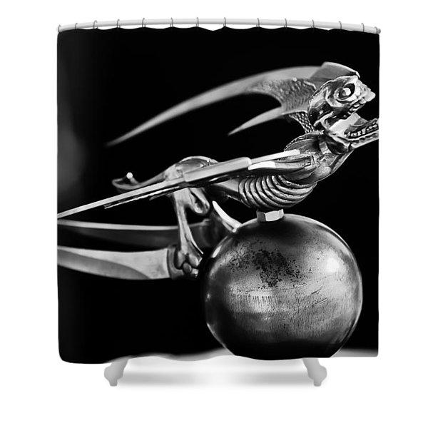 Gargoyle Hood Ornament 2 Shower Curtain by Jill Reger