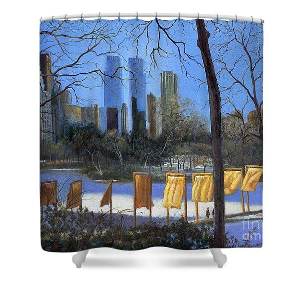 Gates of New York Shower Curtain by Marlene Book