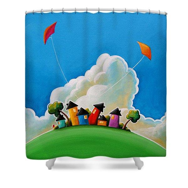 Gather Round Shower Curtain by Cindy Thornton