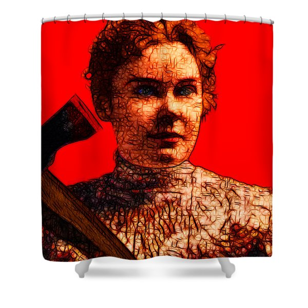 Gave Her Father Forty Whacks - Red Shower Curtain by Wingsdomain Art and Photography