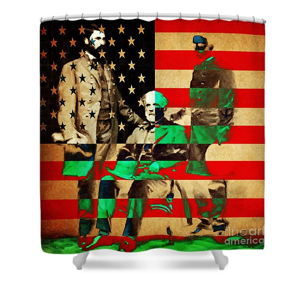General Robert E Lee Shower Curtain by Wingsdomain Art and Photography
