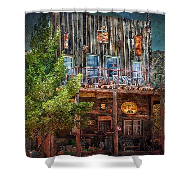 General Store Shower Curtain by Gunter Nezhoda