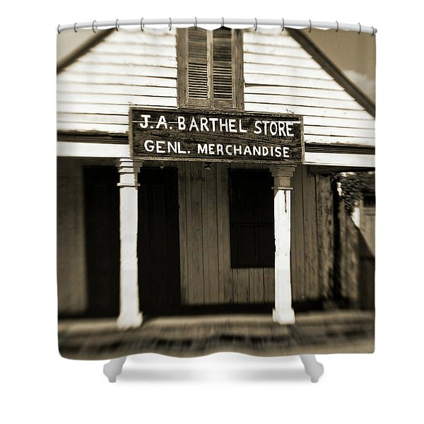Genl Merchandise Shower Curtain by Scott Pellegrin