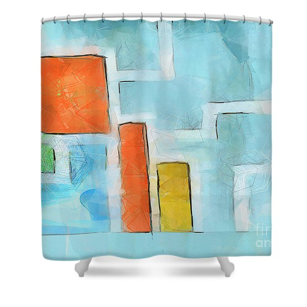 Geometric abstract Shower Curtain by Pixel Chimp