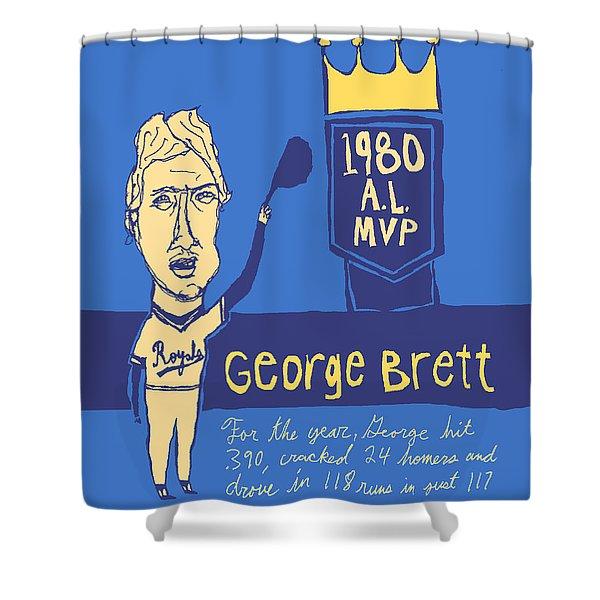 George Brett Kc Royals Shower Curtain by Jay Perkins