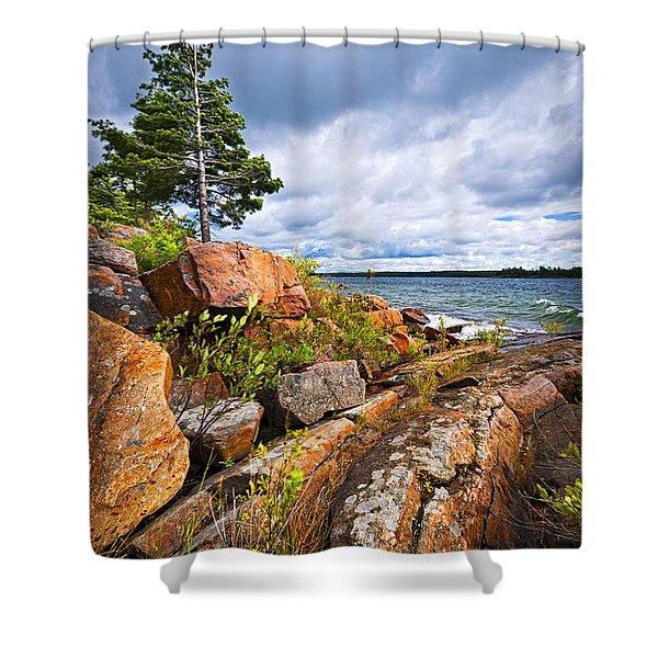 Georgian Bay Shower Curtain by Elena Elisseeva