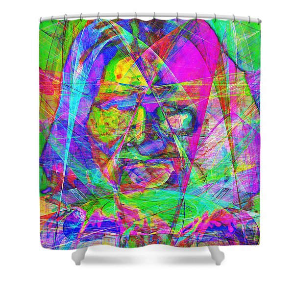 Geronimo 20130611 Shower Curtain by Wingsdomain Art and Photography