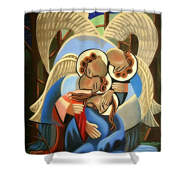 Gethsemane The Hour Is Near Shower Curtain by Anthony Falbo