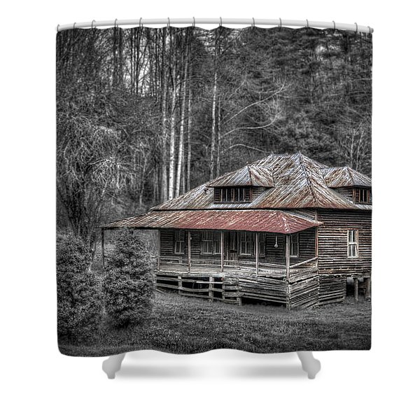 Ghost In The Window Shower Curtain by Debra and Dave Vanderlaan
