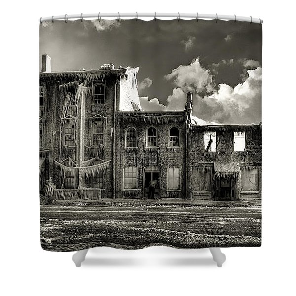 Ghost of Our Town Shower Curtain by Jaki Miller