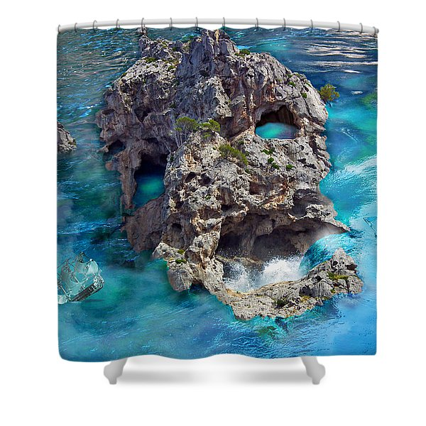 Ghost Rock Shower Curtain by Johnny Trippick