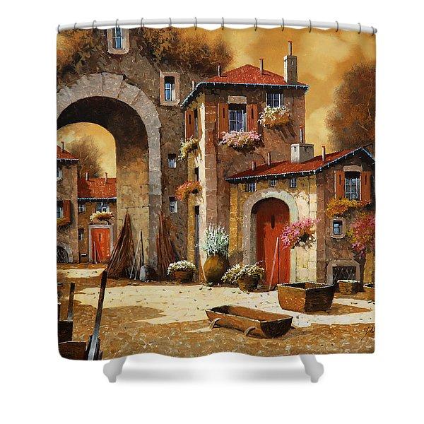 giallo Shower Curtain by Guido Borelli