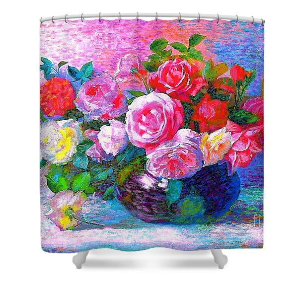 Gift of Roses Shower Curtain by Jane Small