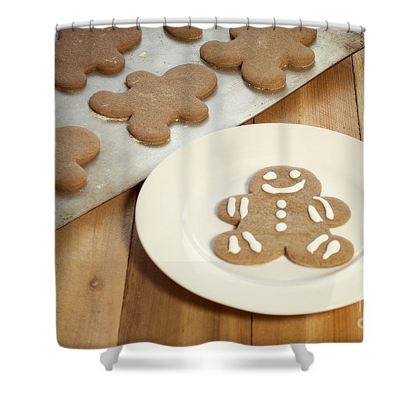 Gingerbread Cookies Shower Curtain by Juli Scalzi