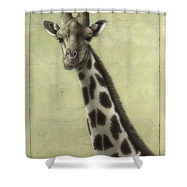 Giraffe Shower Curtain by James W Johnson